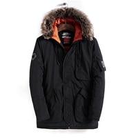 2018 Fashion Winter New Bomber Jacket Men Warm Coats Casual Parka Medium Long Thickening Windproof Thick Coat Men For Winter