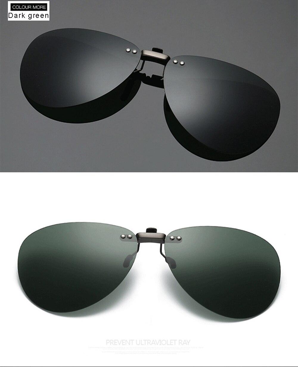 Óculos de sol polarizados clipe clássico condução