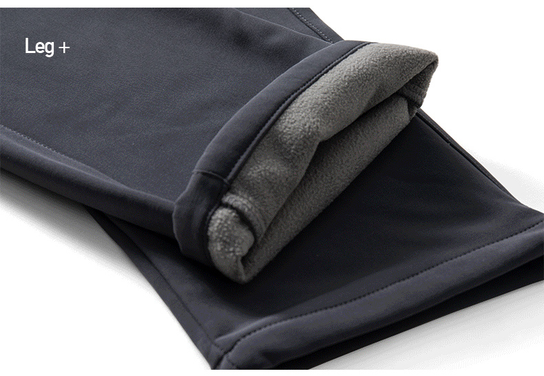 Men's Winter Pants Male Stretch Warm Thick Fleece Lining Trousers Mens Windproof Waterproof Softshell Pants For Men AM366 13