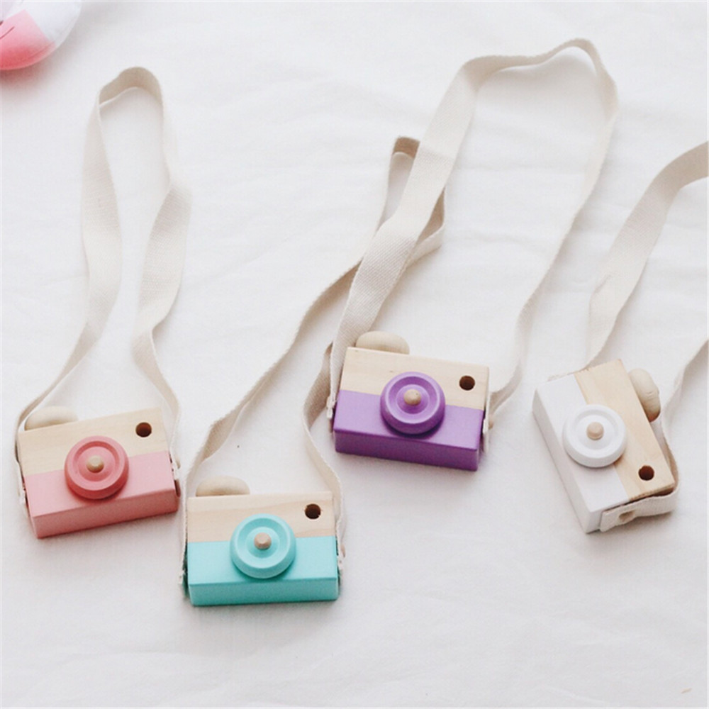 Cute Wooden Camera Toys For Baby Kids Room Decor Furnishing Articles Child Birthday Gifts European Style Pretend Play Photo