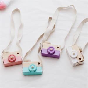 FoPcc Wooden Camera Toys Kids Decor Child Birthday Gifts
