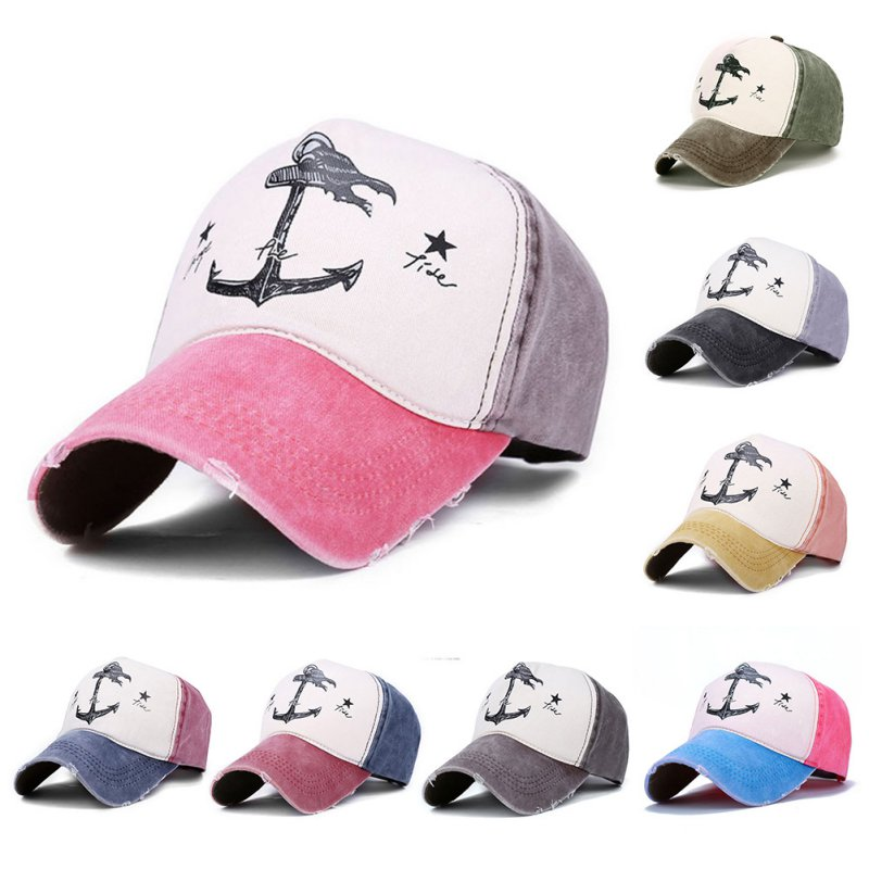 Patchwork Unisex   Cap   Print Pirate Visor   Cap   Pirate Ship Stars   Baseball     Caps   Outdoor Casual Hat Adjustable Hat