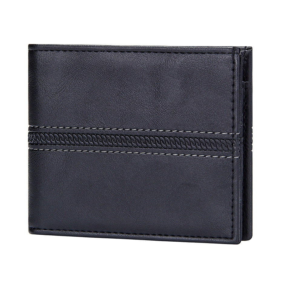 Vintage Solid Business Men Wallet Pu Leather Bifold Short Wallet For Men With Coin Pocket Luxury Brand Slim Credit Card Holders