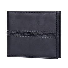 Vintage Solid Business Men Wallet Leather Bifold