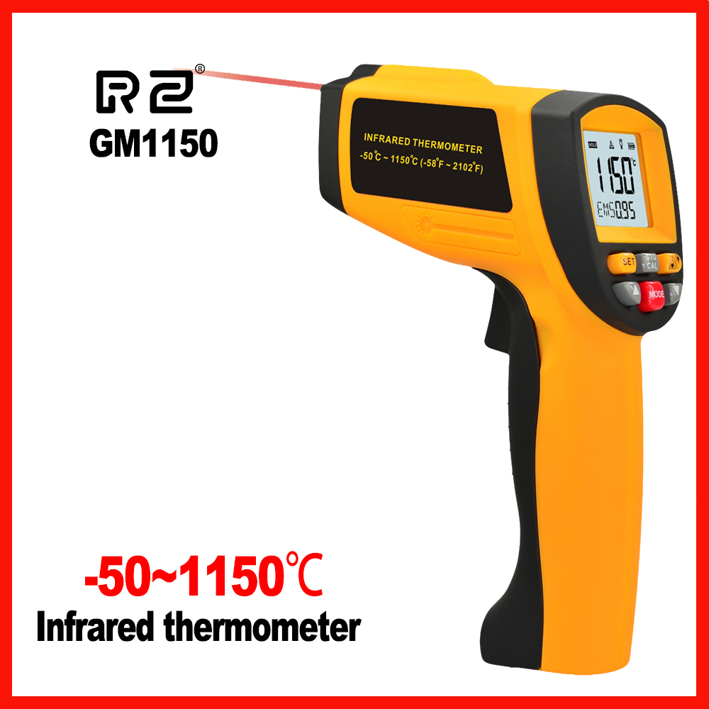 Non-Contact High precision LCD display IR Infrared Digital Handheld Temperature Gun Thermometer GM1150 цена