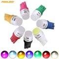 4 шт. T10 194 W5W 1 Вт COB прожектор Керамика интерьера автомобильная светодиодная лампа 7 цветов на выбор # FD-5324