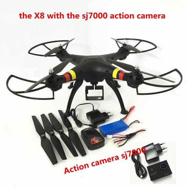 Syma X8W/X8C/X8 FPV Zangão com Câmera de 12MP FHD drones com câmera hd de 6 Eixos Quadcopter dron RC quadrocopter Helicóptero Fit SJ7000