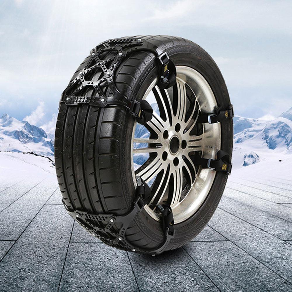 3pcs Snow Chains for Car Anti Slip Tire Chains Automotive Passenger Vehicle Snow Chains Mud Chains