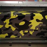Camouflage Vinyl Wraps Yellow Black Grey Camouflage Vinyl Roll Red Camouflage Wrap Vinyl Sticker Bubble Free