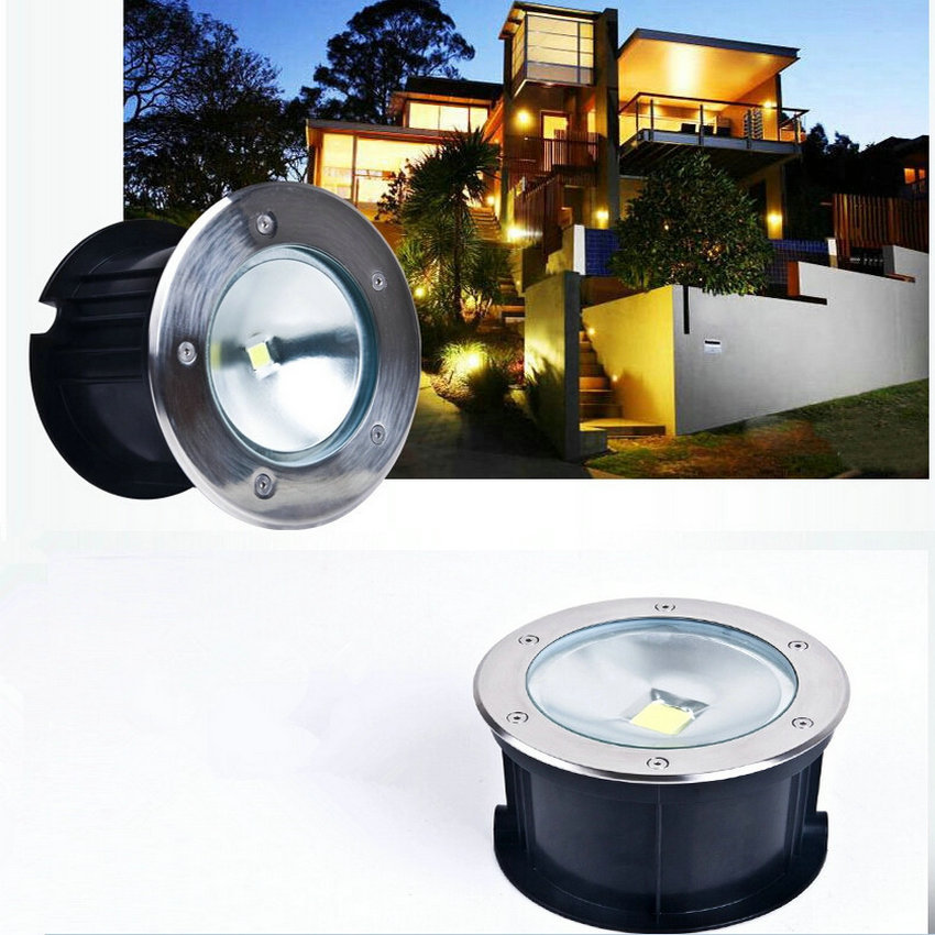 Free Shipping 12pcs/lot IP67 waterproof 10W20W30W50W LED COB Underground Light,LED Recessed Light LED Flood Lights AC85-265V 9 24w recessed led horizontal down light with external driver ac100 240v color white 2373lm 18pcs lot promotion free shipping
