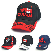 3D embroidery  Canada cap fashion casual Maple leaf hat summer Men women Brand National flag Snapback hats