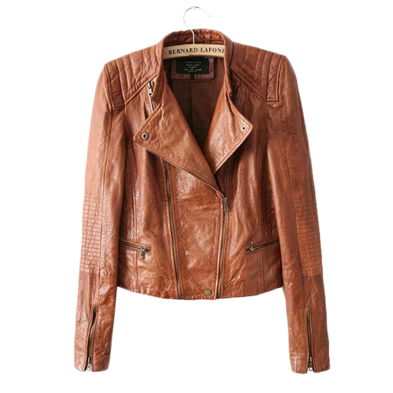 Popular Leather Brown Jacket Women-Buy Cheap Leather Brown Jacket ...