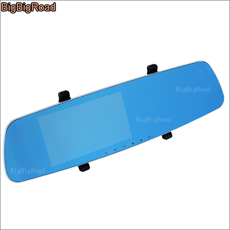 BigBigRoad For bmw M5 e60 e39 f10 m50 m54 x3 e83 f25 f15 X4 F26 Car DVR 5 inch Blue Screen Rearview Mirror Video Recorder bigbigroad for bmw 5 series 535i 528i 550i 525li f10 e60 e39 e34 gt 520d 530d 525 wifi car dvr video recorder dashcam black box