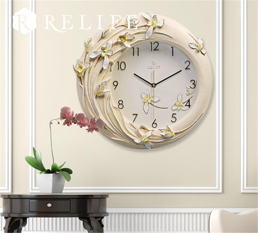 Лидер продаж декоративные настенные часы Магнолия Дизайн 3D дома часы для Гостиная