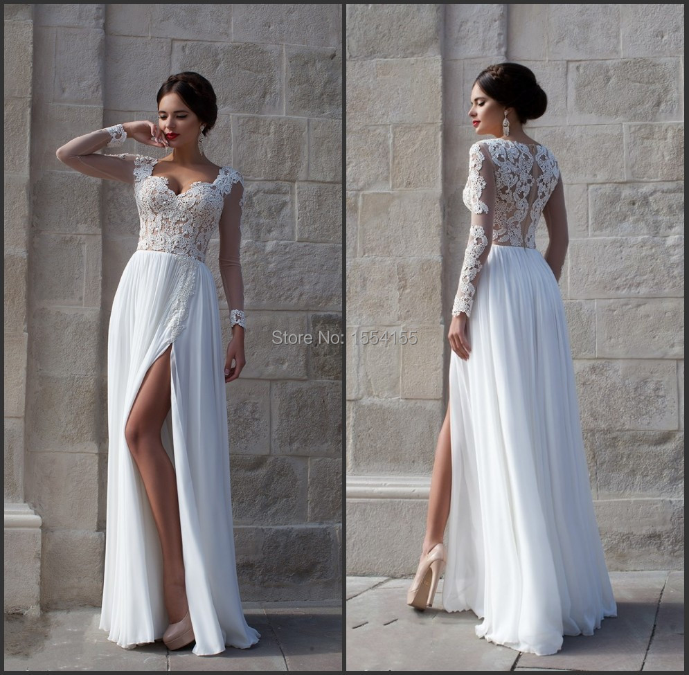 Popular White Lace Prom Dresses-Buy Cheap White Lace Prom Dresses ...