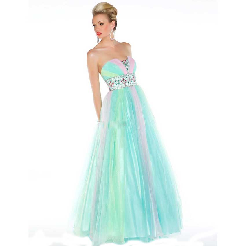 Popular Rainbow Prom Gown-Buy Cheap Rainbow Prom Gown lots from ...