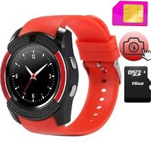 V8 smart watch sport uhr mit sim tf-einbauschlitz smartwatch mp3 kamera bluetooth für android samsung xiaomi sony htc SmartPhone