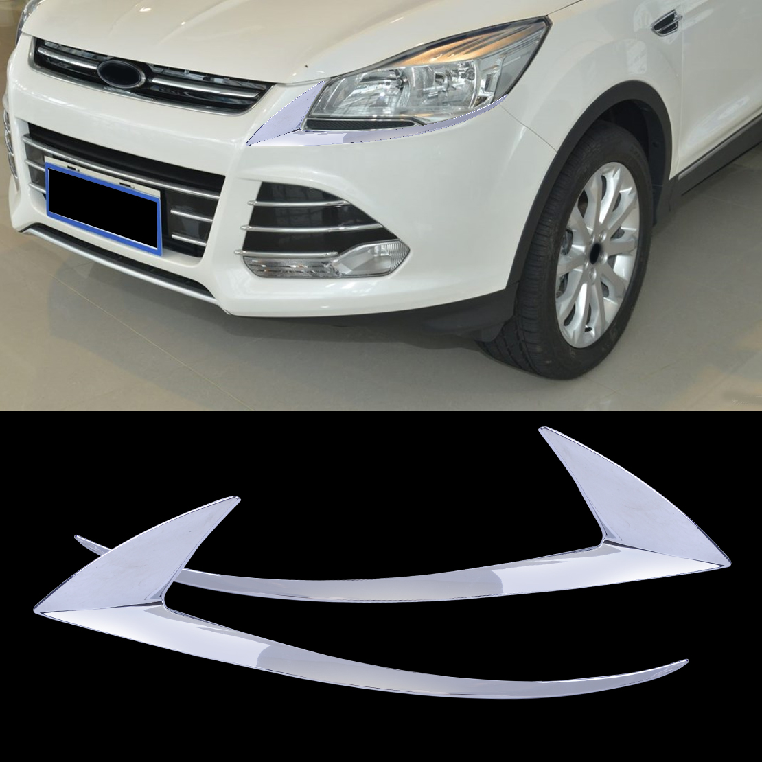 NEW 1 PC Front Bumper-Trim Molding Decorative plates For Ford Escape 2013-2016
