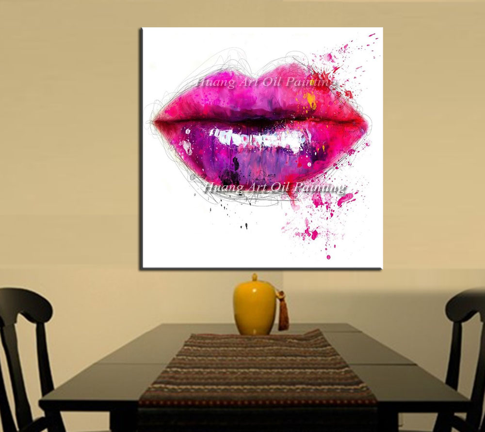 Skilled Painter Hand Painted Oil Painting Abstract Colorful Sexy ...
