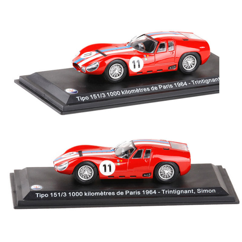 Leo 1/43 Scale Car Model Toys Tipo 151/3 1000 Kilometres de Paris 1964 #11 Racing Car Diecast Metal Model Toy For Collection 1 43 luxury car model audi rs5 coupe diecast model car 3 colors classic toys car replica
