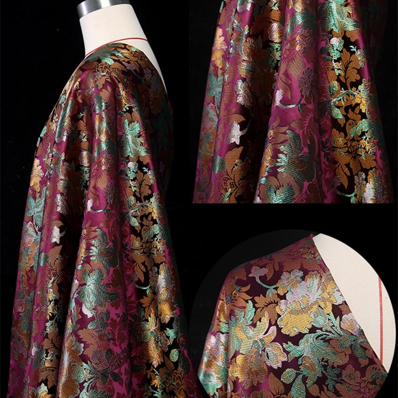 CF270 1 yard 4 colori Florals Jacquard Brocade Fabric Sacchetto di Stile Cinese Qipao Cheongsam Per Le Donne 's Tessuto Materiale DIY per il Cucito