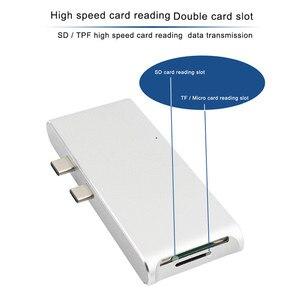 Image 4 - Новый Тип C концентратор соединитель USB C конвертер HDMI 4K USB 3,0 концентратор SD TF кардридер зарядное устройство для Macbook USB C концентратор HP ПК ноутбук концентратор
