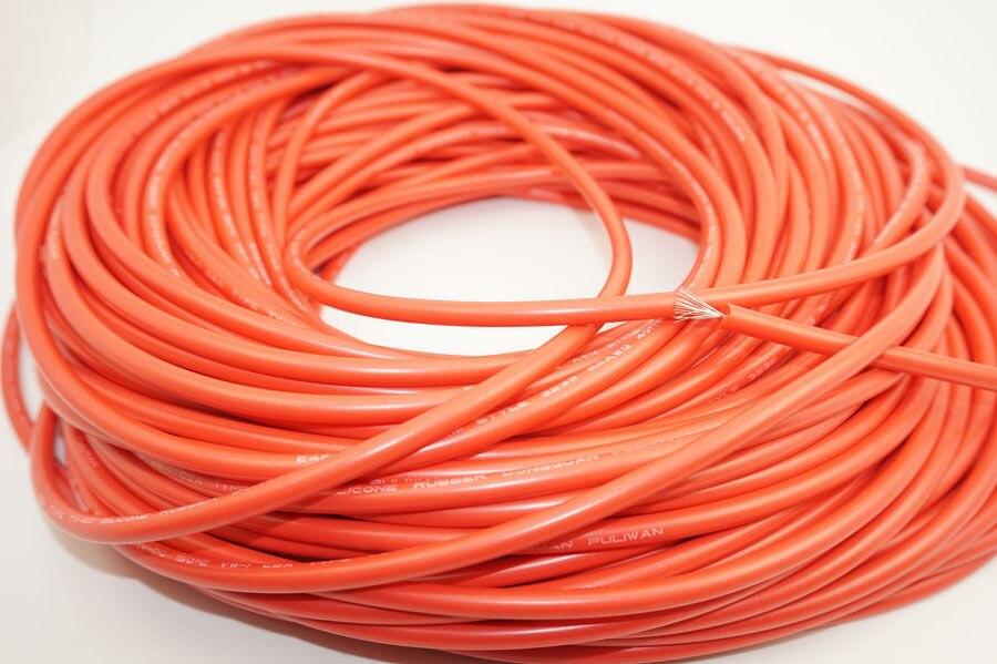 10FT Flexible Silikon Kabel 22AWG 40KV Hochspannung Verzinnen Kupfer ...