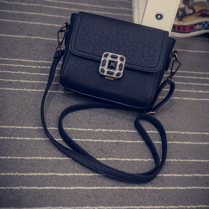 Vintage Women Leather Lock Satchel Handbag Shoulder Messenger Crossbody Bag Tote Bag Small Mini Lady Purse Dropshipping  jl31 genuine leather studded satchel bag women s 2016 saffiano cute small metal rivet trapeze shoulder crossbody bag handbag