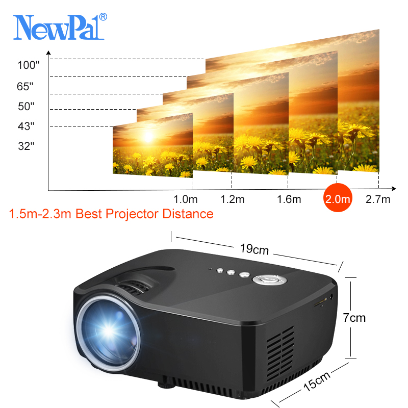 Image 2 - Mini Projector Home Theater Projector Android Wifi Beamer 3D HD LED Proyector with HDMI USB VGA AV Port Clearance Video TV-in LCD Projectors from Consumer Electronics