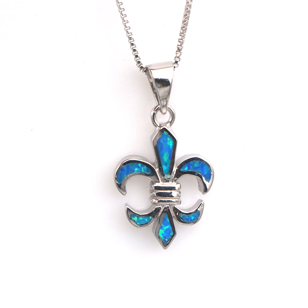 jzp0114 simple blue opal pendant necklace for men and
