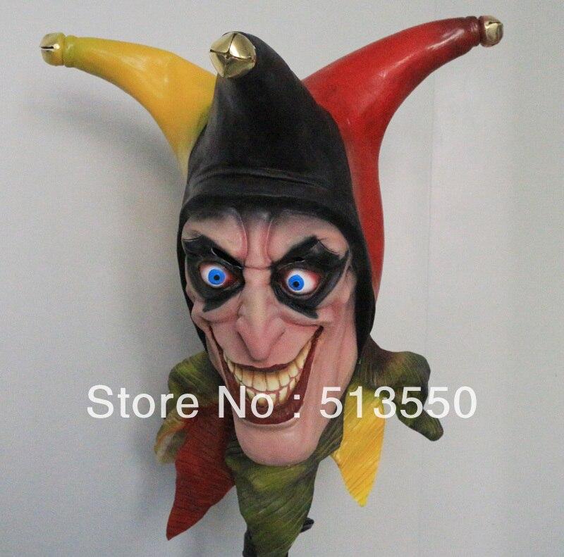 Новинка! Маска клоуна, маска с тремя рогами, латексная красочная Праздничная Маскарадная маска для Кубка мира 2014