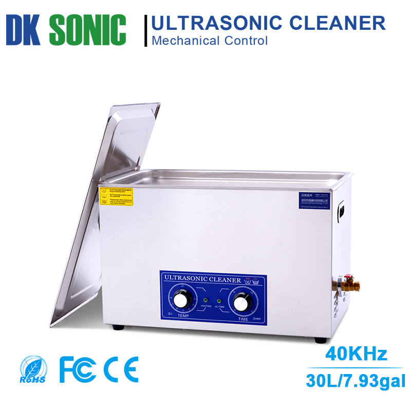 30L Large Ultrasonic Carburetor Cleaner with Knob Control for Industrial Hardware Accessories Golf Clubs Motor Auto