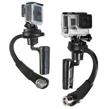 Naujas 1 colių 3 colių C-lenktas vaizdo stabilizatorius Mini delninis fotoaparato stabilizatorius Steadicam Gimbal už GoPro Hero 4/3 + / 3/2/1