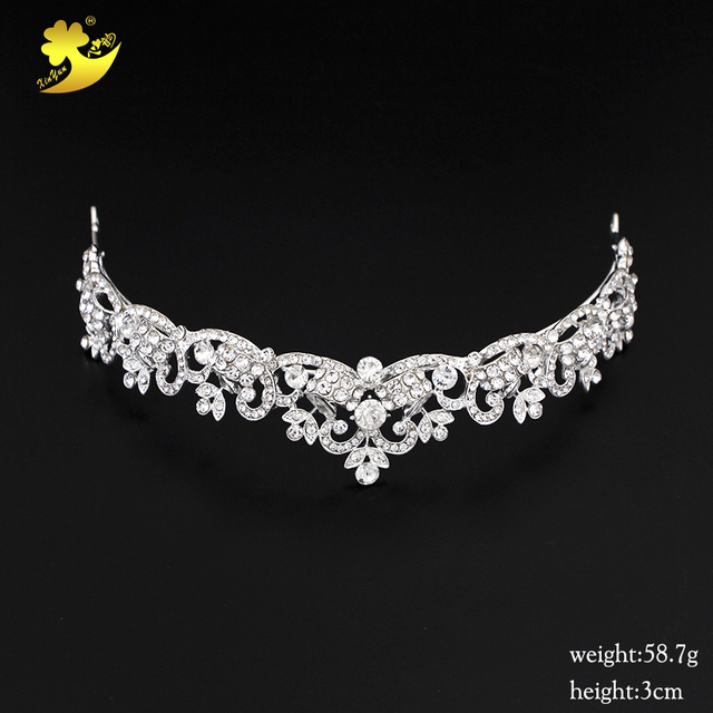 Xinyun Wedding Hair Tiaras Shining Rhinestones Cheveux Coroa Princesa Beautiful  Hot Sale Women Hair Jewelry Bright Accessories