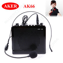 Free shipping!Aker AK66 Waistband Voice Amplifier Booster With Headset Microphone For Teacher