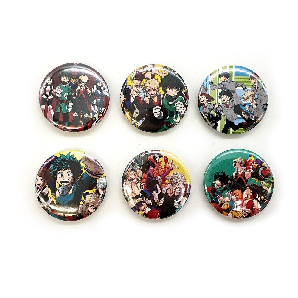 Love Thank You My Hero Academia 44MM 6pc PIN BACK ANIME BADGES BUTTONS for BAG CLOTH  anime BOKU ALL MIGHT DEKU BAKUGOU