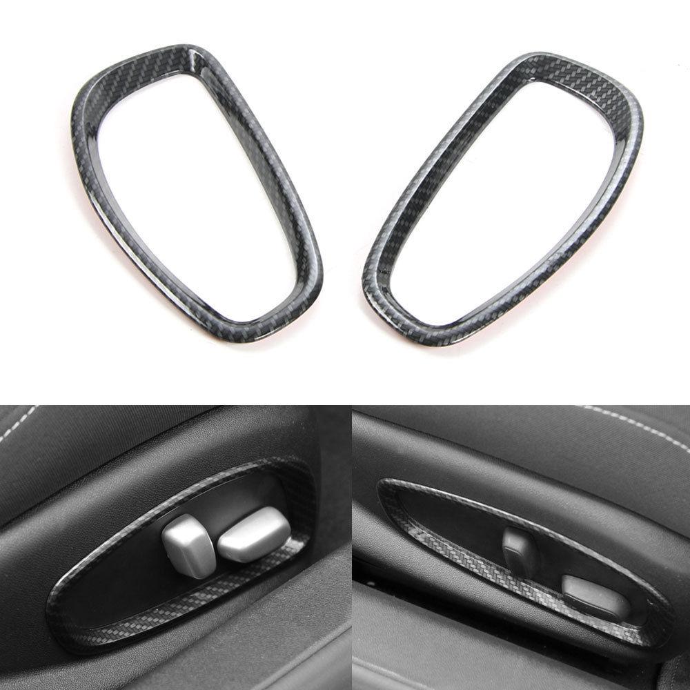 Bbq@fuka Car Seats Backrest Manual Adjustment Handle Cover Car Back Pillow Adjustment Cover Abs Fit For Chevrolet Camaro 2017 Interior Accessories