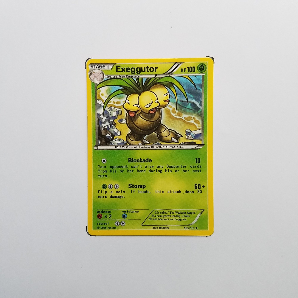Pokemon Card Single Sale B20015 Exeggutor Grass Type STAGE 1 Ordinary Card Play Anime Toys Cards Game Trading Collection