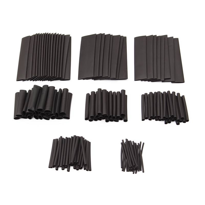 150pcs 1/2/3/4/6/8/10/13mm Black Heat Shrink Sleeve HeatShrink Tubing Sleeving Wrap Wire Insulation Materials & Elements