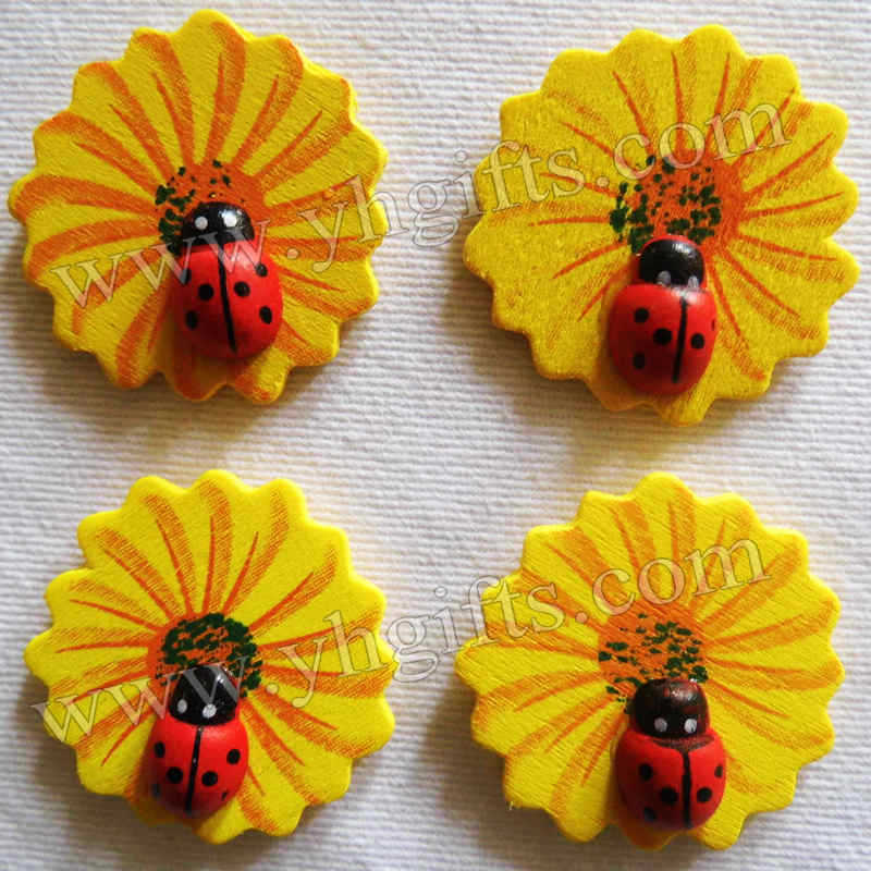 100PCS/LOT,Flower ladybug stickers,3cm,Kids toys,scrapbooking kit,Early educational DIY.Kindergarten crafts.Classic toys