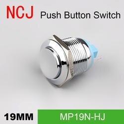 NCJ 19 мм металлическая кнопка переключатель IP67 самостоятельно моментальная Перезагрузка сброса медь 5A