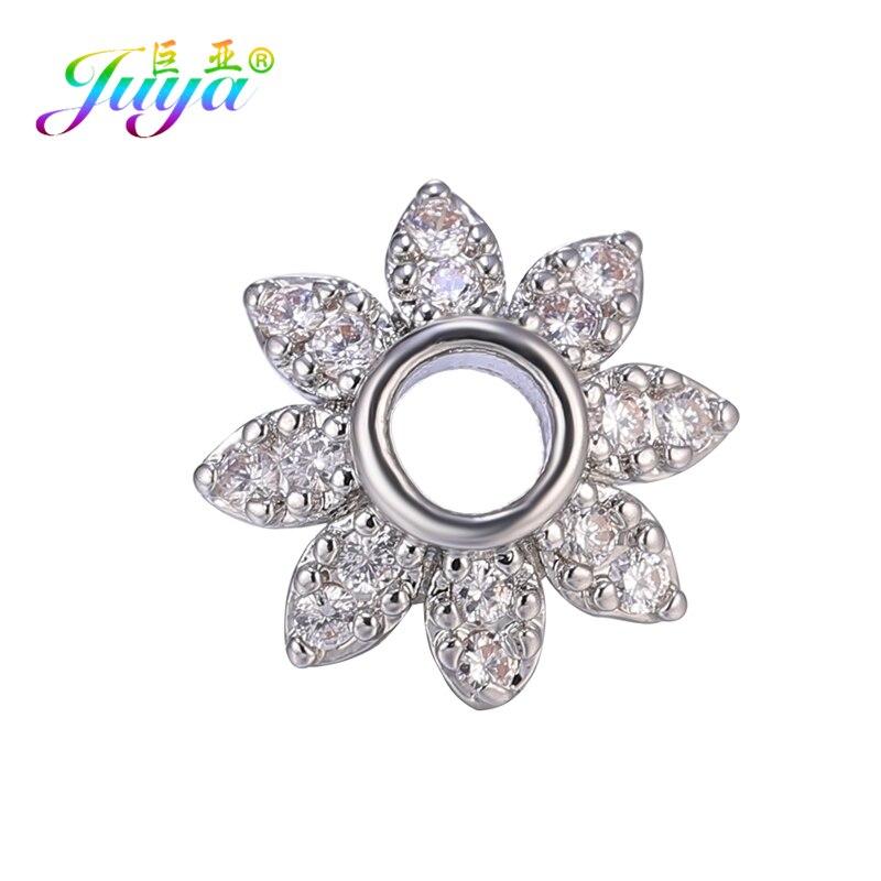 Juya 8mm Spacers Supplies Handmade Decorative Round Flower Bead Caps Fit Women Tassels Earrings Beads Jewelry Making Accessories