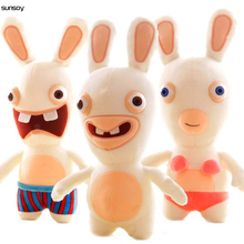 Hot Toys Rayman Raving Rabbids Rabbit Kawaii Plush Animation Rabbit Animal Kids Toy 25CM Stuffed Dol