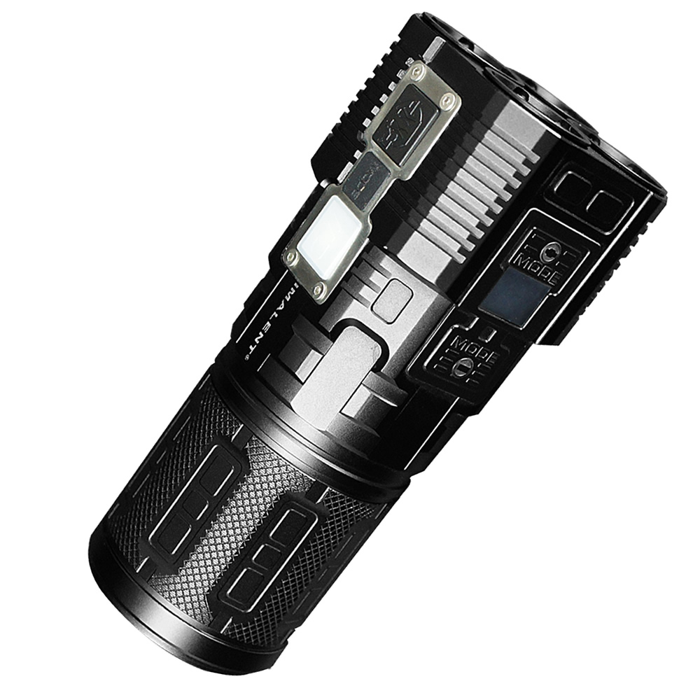IMALENT DDT40 Cree XM L2 LED Intelligence Touch Led Tactical Flashlight with 5180LM Self Defense by 4PCS 18650 Battery ipx 8 waterproof tactical torch imalent dn35 usb rechargeable cree xhp70 2200 lumens led flashlight self defense 26650 battery