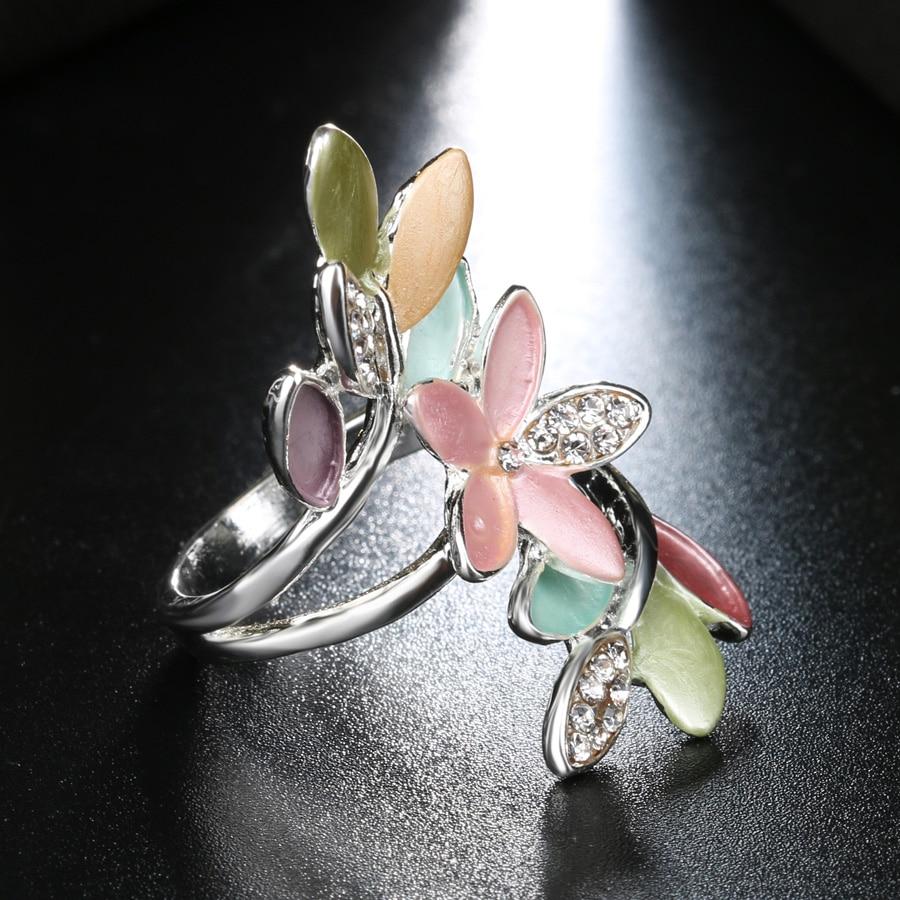 2017 Nye trendy flerfarvede emalje ringer til kvinder Crystal bryllup - Mode smykker - Foto 4
