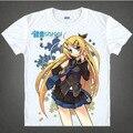 T-shirt Top Moda Mulheres E Homens Novos 2017 Curto O-neck Camiseta Anime Japonês Hatsune Miku T-shirt S-3XL
