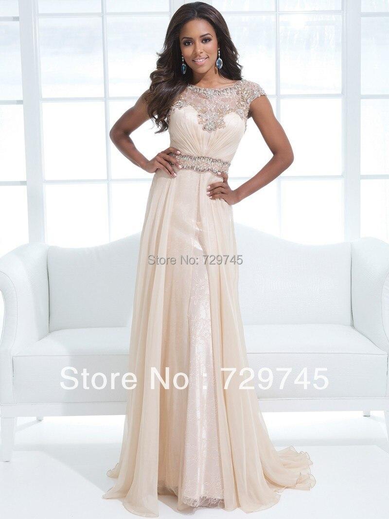Aliexpress.com : Buy New Sexy Sequin Beading A Line Scoop Floor ...