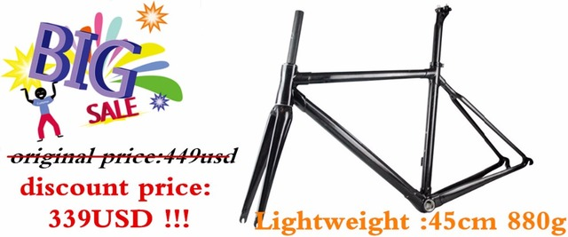 Cheap 2016 Hot sale High Quality Carbon Road Frame China Carbon Frame road bike include fork headset seatpost clamp BB68 bsa