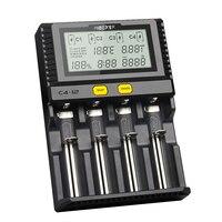 Miboxer C4-12 batería inteligente 18650 265650 cargador 4 ranuras pantalla LCD 3.0A/ranura total 12A para Li-ion/ tasa de mortalidad infantil/INR/ICR/Ni PK VP4 PLUS