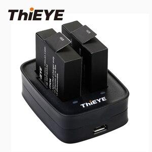 Image 1 - デュアルバッテリー充電器 + 2 1100 2800mahの充電式電池thieye T5 エッジ/T5 プロ/T5e/akaso v50 エリート/8 18kアクションカメラ